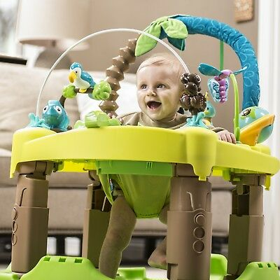 Evenflo Baby Triple Fun Learn Entertainer Play Activity Spin Jumper Bouncer Toys