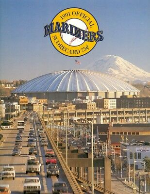 1991 Seattle Mariners vs Milwaukee Brewers Official Scorecard