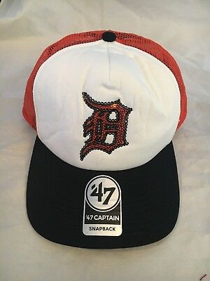 hot sale online 0c011 ae628 Detroit Tigers NEW Women s Team Glimmer Captain Snapback Hat . MLB Baseball  Cap