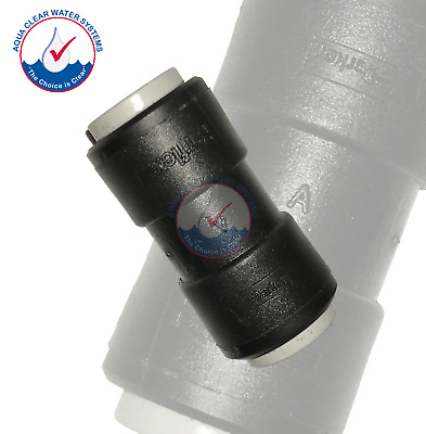 "x1, John Guest Style, Push to Connect, Quick Connect Acetal Coupling 3/8"" X 3/8"""