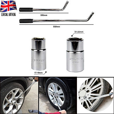 17 19 21 & 23mm HEAVY DUTY Car VAN Extendable Wheel Brace Socket Nut Tyre Wrench