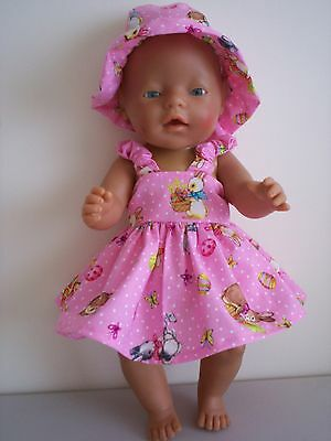 """Baby Born 17""""  Dolls Clothes Pink Easter Summer Outfit"""