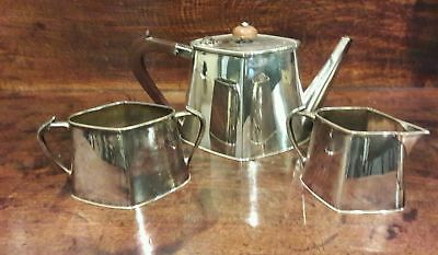 Beautiful Superb Quality Art Deco Epns Tea Pot Sugar Bowl & Milk Jug