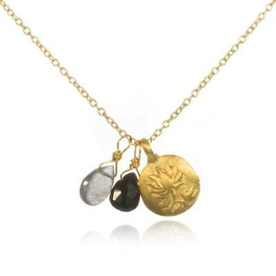 3b03ce0e283066 New Satya Jewelry Womens Gold Onyx & Labradorite Lotus Necklace - After The  ...