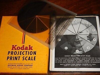 1950s VINTAGE KODAK PROJECTION PRINT SCALE W/INSTRUCTIONS ORIGINAL BOX