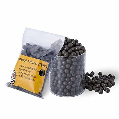 "Hard Clay Slingshot Ammo Ball - 400 PCS 3/8"" Professional Accurate High Densi..."