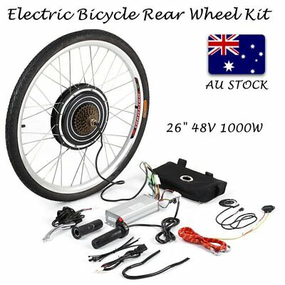 "26"" 1000W Electric Bicycle Rear Wheel Motor Conversion Kit LCD Meter E Bike Hub"