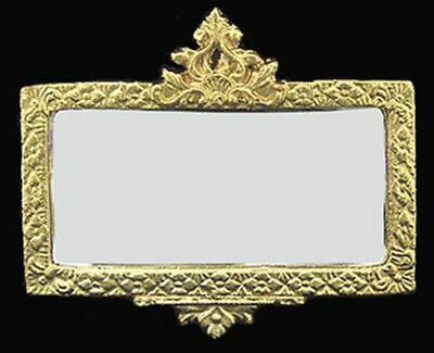 Dollhouse Miniature Gold Framed Mirror by Unique Miniatures