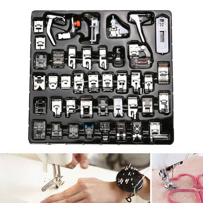 42X Domestic Sewing Machine Foot Zipper Presser Stitch Feet for Singer Brother