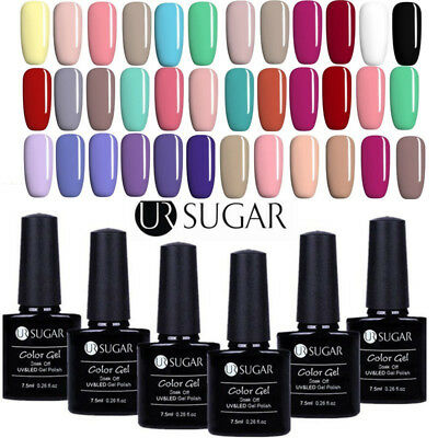 6Bottles/Set 7.5ml Nail Art UV Gel Nail Polish Soak Off Color Gel Manicure DIY