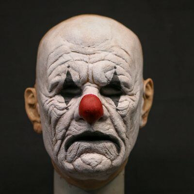 POPSY THE CLOWN - Old Man Full Head Silicone Mask by MADNESS FX, not CFX or SPFX