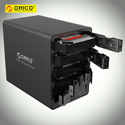 "ORICO 9558U3 5Bay SATA 3.5"" USB 3.0 Hard Drive Disk SSD HDD Enclosure Tools Free"