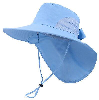 SIGGI SUMMER BILL Flap Cap UPF 50+ Cotton Sun Hat with Neck Cover ... 516375bbbe57