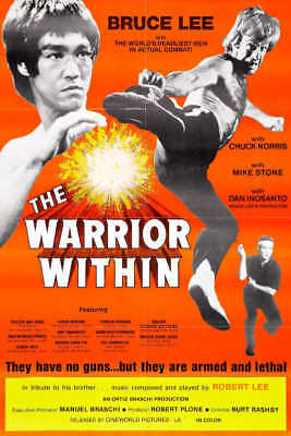 1976 THE WARRIOR WITHIN VINTAGE ACTION MOVIE POSTER PRINT 36x24 9 MIL PAPER