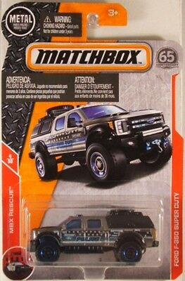 2018 MATCHBOX POWER Grabs #54 Ford F-350 Super Duty SILVER / POLICE / MINT - $3.99 | PicClick