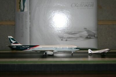 Herpa Wings 1:400 Cathay Pacific Airbus A330-300 B-LAD and DC-3 VR-HAD Die-Cast