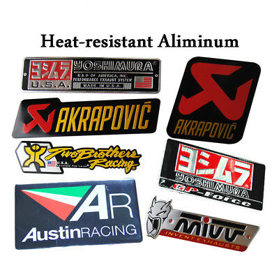 Aluminum 3D Heat-resistant Motorcycle Exhaust Pipe Sticker Cool Personality