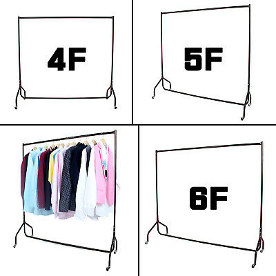 Garment Clothes Rail Dress Display Stand Rack Heavy Duty with Brake 3 4 5 6 FT