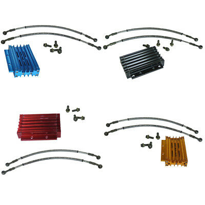 CNC Motorcycle Oil Cooler Kit Radiator Cooling ATV Dirt Bike For 50cc 125 138cc