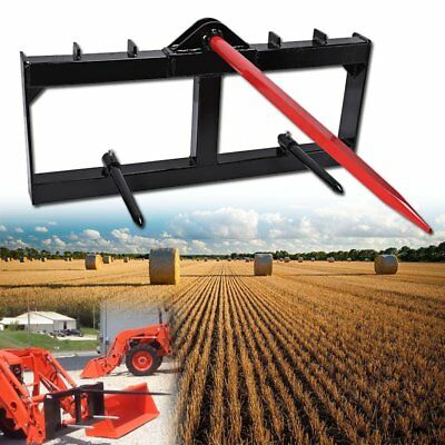 "49"" Tractor Hay Spear Attachment 3000lb Capacity Skid Steer Loader Quick Tach"