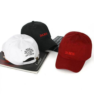 Snapback Baseball Cap Dad Hat Men DAMN Rapper Hip Hop Caps Adjustable  Casual Hat 5779d8c80752