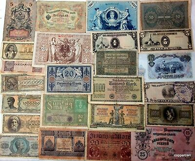 """25 Very Old Foreign """"Currency Wars"""" Banknotes Many Are Rare HUGE 100 + Years Old"""