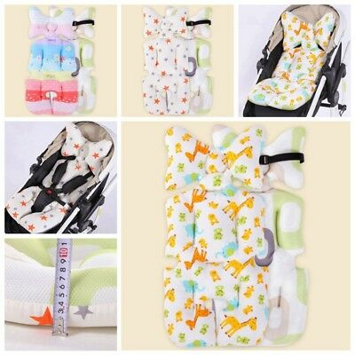 Baby CarCotton Seat Stroller Pram Cushion Chair Pad Liner Mat KidsBody Support H