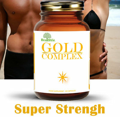 Tanning Pills Healthy Melanin Accelerator 60 Pill Safe Brown Bronze Natural Tan