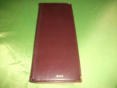 Genuine Harrods Of London Stamped In Gold Leather Business Card Or Credit Wallet