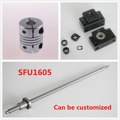 CNC Ballscrew w/ Nut SFU1605 250 - 1050MM C7 + BK/BF12 + 6.35x10mm Coupler Set