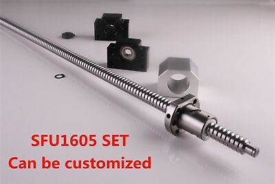 CNC Ballscrew SFU1605 L=300 - 1500MM C7 & BK/BF12 End Support & Ballnut Housing