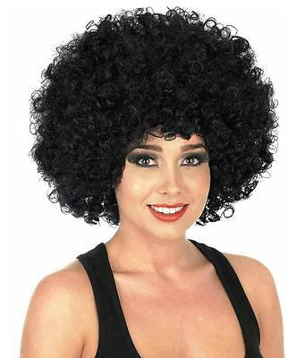 1970s 1980s Black Afro Wig Funky Big Hair Fashion Fancy Dress 118 118 Hippie New