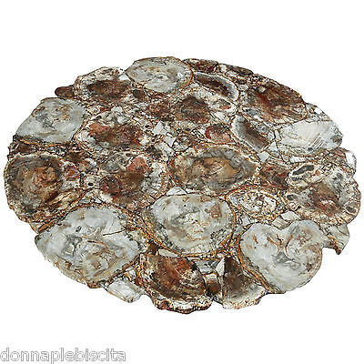 Table Stone Marble Wood Fossil Old Stone Table Vintage Classic Home Design
