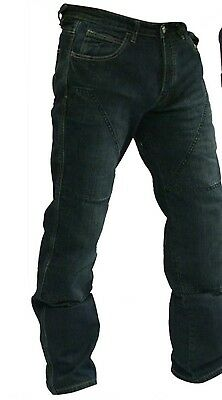 Motorcycle Jeans trousers Blue Hornee SA-M3 Relax Fit Bruised Wash