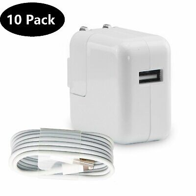 Lot 12W USB Wall Charger Power Adapter For Apple iPad Mini 3 4 Air iPhone 5 6 7