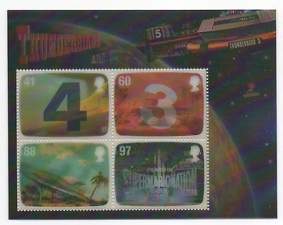 GB 2011 Thunderbirds mini / miniature sheet MNH m/s mint stamps Gerry Anderson