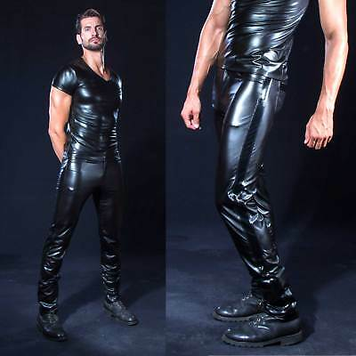 PATRICE CATANZARO Shawn Wetlook-Hose für Herren mit Lack PVC Vinyl Pants for men