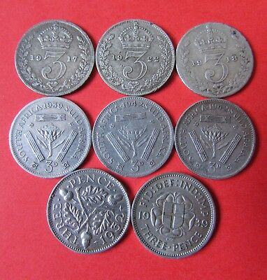 Silver Coins Great Britain Set 8 pieces! (C275)