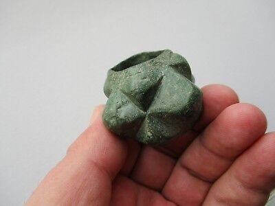 Ancient Bronze Age military Mace Head with twelve faceted phalanges - Luristan