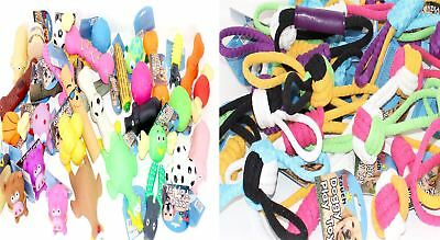 New Assorted Value Pack Dog Toys Squeaky Rope Chew Ball Rubber Fetch Toys