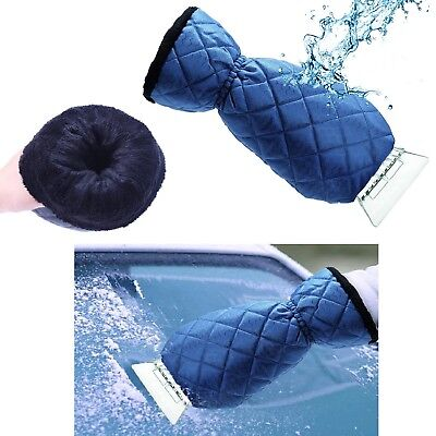 Frost Ice Scraper Mitt with Glove for Car Windshield Waterproof Snow Winter Tool