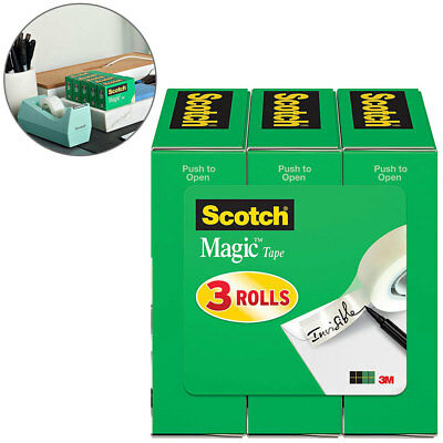 Refill Tape For Dispenser Scotch Magic invisible Roll Pack For Office and School