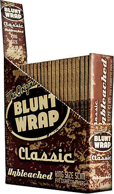 Blunt Wrap Rolling Papers Unbleached King Size 5 packs