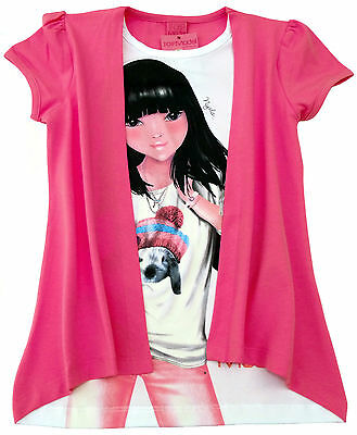 NEU! TOP Model Nyela 2-in-1-Optik T-Shirt Shirt Stretch pink 128 140 152 164