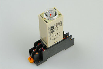 H3Y-2 H3Y Timing Timer Relay 8pin DC12V 5A 10SEC 10S & Base