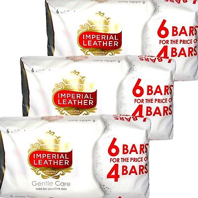 18 Bars x 100g Soap White Gentle Care Original Soaps Imperial Leather Cussons