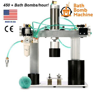 Bath Bomb Machine Press, 450+ Fizzies/hour.  Fast & Easy Production! See Video.