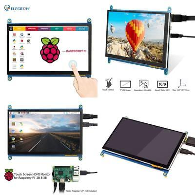 Elecrow Hdmi Display Monitor 7 Inch 1024X600 Hd Tft Lcd With Touch Screen For Pi