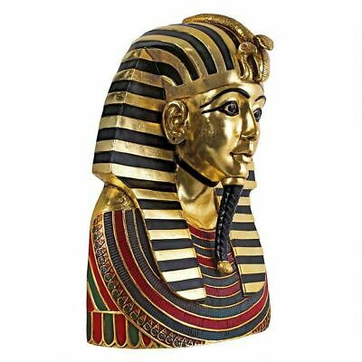"Ancient Egyptian Art King Tutankhamen  Exclusive Large 27"" Sculpture Bust"