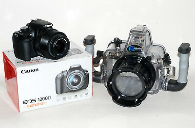 Kit Underwater Photography Case Giosim for Canon EOS 1200+ Camera with Zoom
